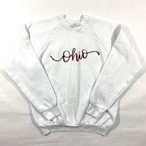Buffalo plaid script Ohio sweatshirt